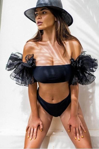 Costume de baie din două piese Jasmine Black  - 1