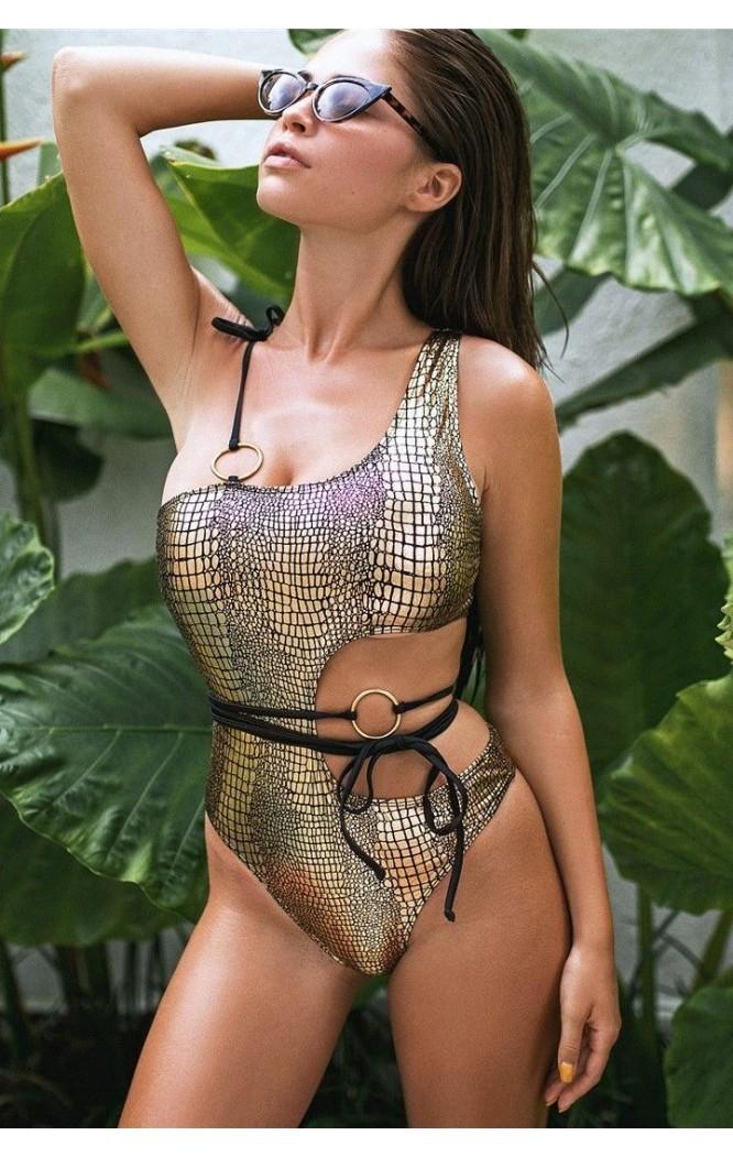 Costum de baie Snake Skin Gold SCS_B82  - 1