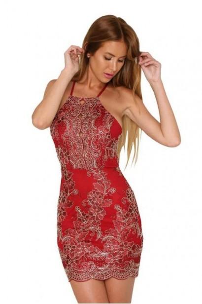 Rochie Luxury Regina Red L00559  - 1