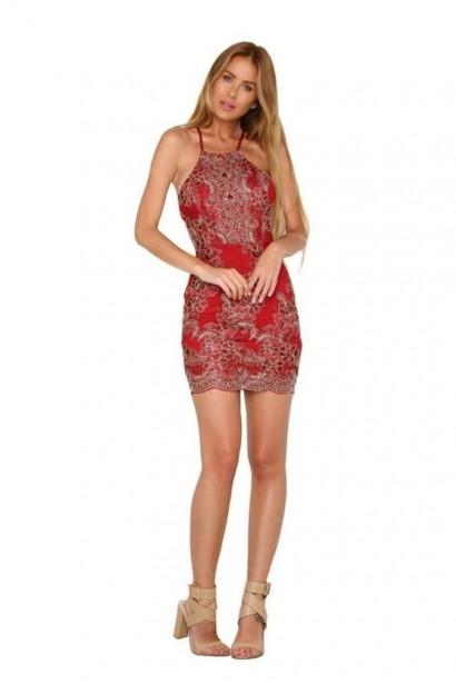 Rochie Luxury Regina Red L00559  - 3