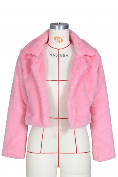 Jacheta femei din blana Foxy Pink  - 1