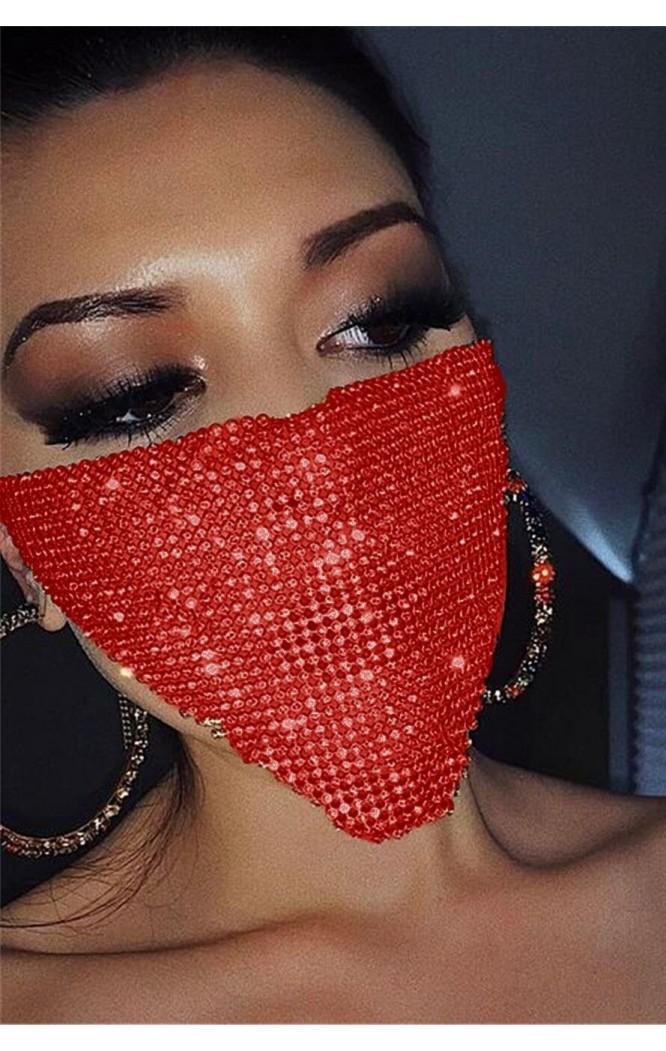 Accesoriu fata tip masca Red Cristals  - 1