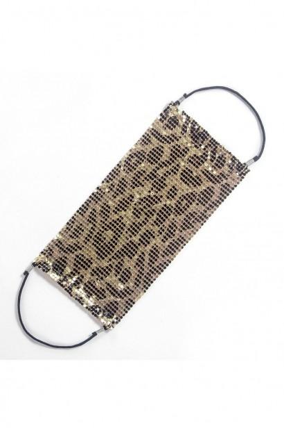Accesoriu fata tip masca Leopard Blossom  - 1