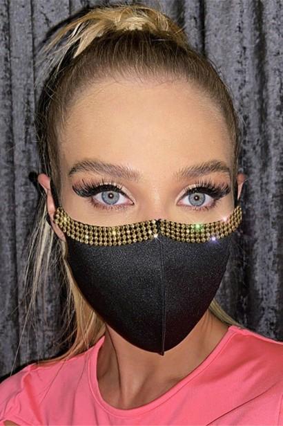 Accesoriu fata tip masca Glossy Black  - 1