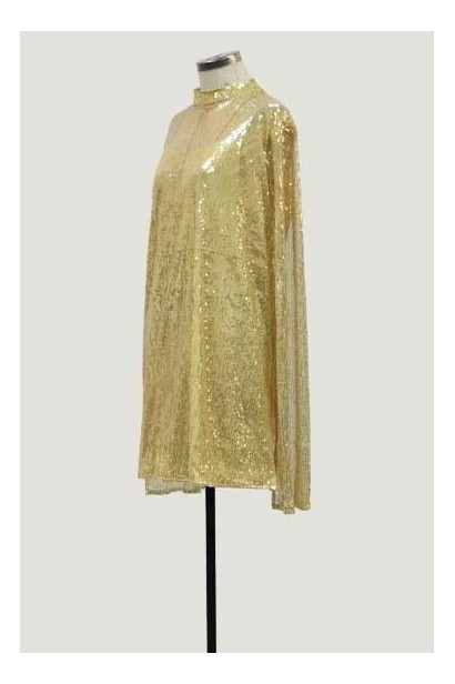Rochie din paiete cu maneci decupate Luxury Gold X  - 3
