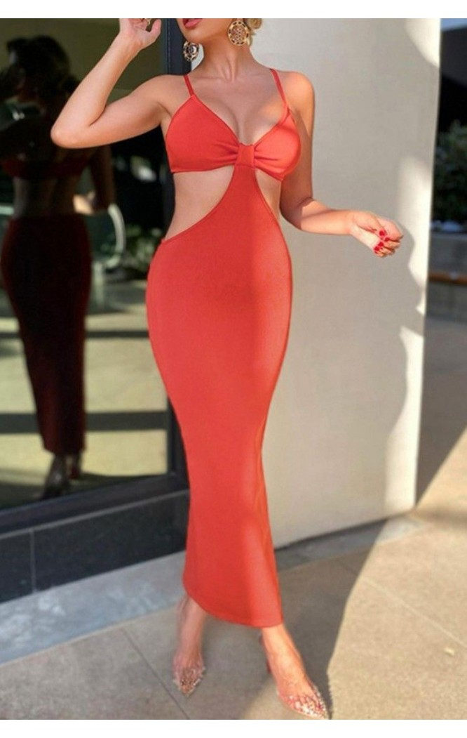 Rochie lunga cu spatele gol Anabelle Coral  - 1