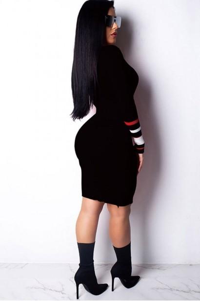 Rochie Tongue Black S0990  - 1