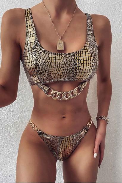 Costum de baie Luxury Chain Golden SCS_B83  - 1